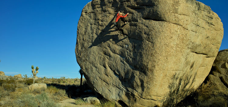 Photo of Alan bouldering