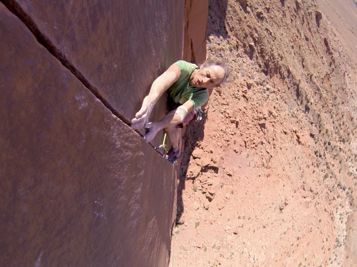 Photo: Laybacking on 'Sacred Cow 5.13-